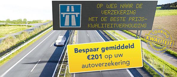 Touring autoverzekering 201 euro besparen