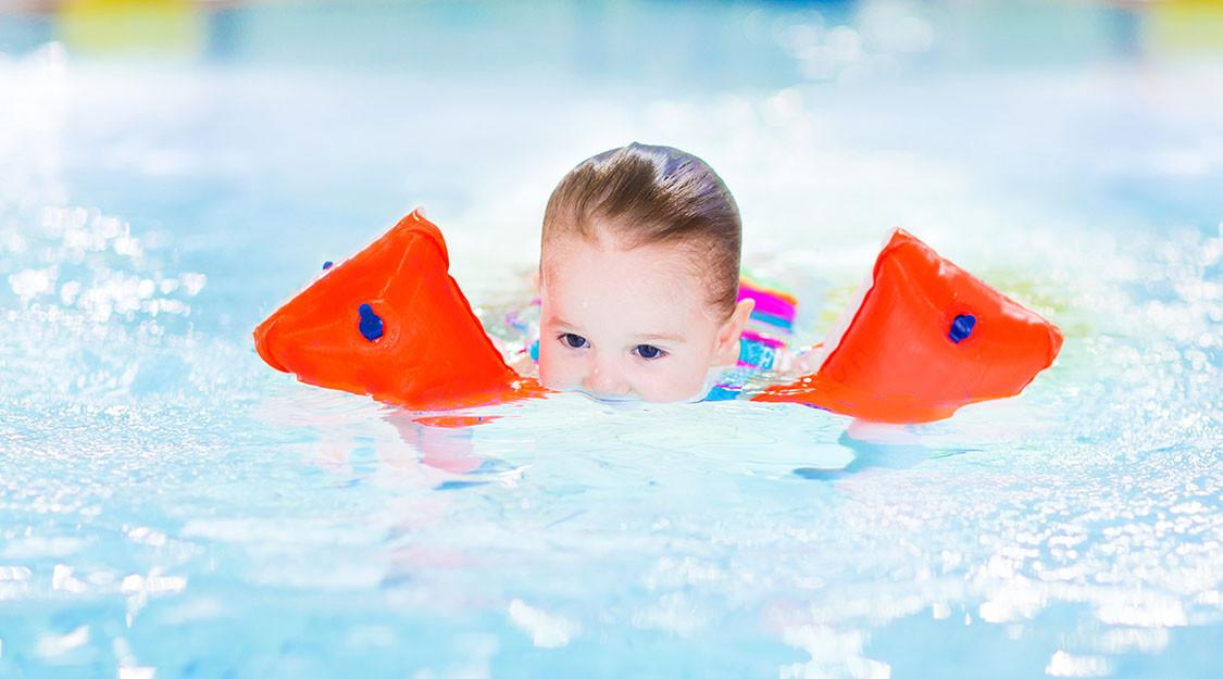 Veilig zwemmen in zwembad